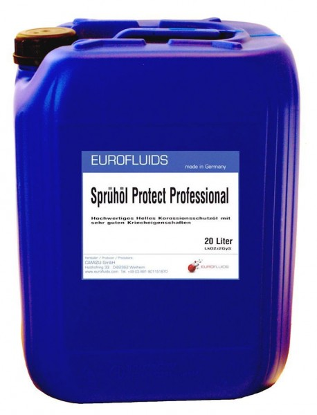 Eurofluids Sprühöl Protect Professional | 20-Liter-Kanister