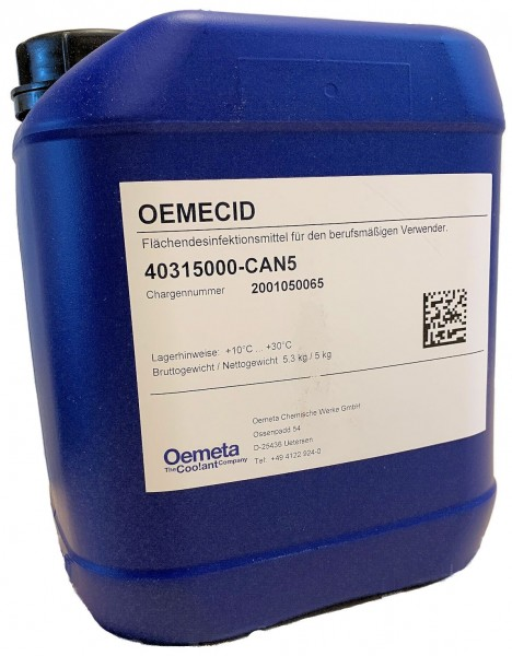 Oemeta Oemecid Flächendesinfektionsmittel | 5-kg-Kanister