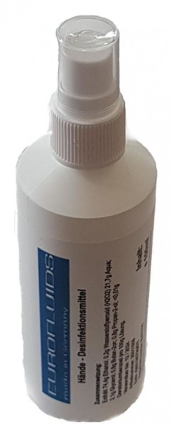Eurofluids Hände-Desinfektionsmittel | 100-ml-Sprühflasche (nachfüllbar)