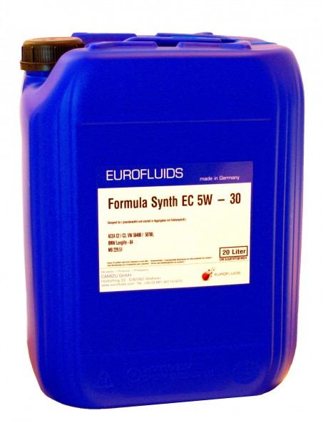 Eurofluids Formula Synth EC 5W-30 | 20-Liter-Kanister