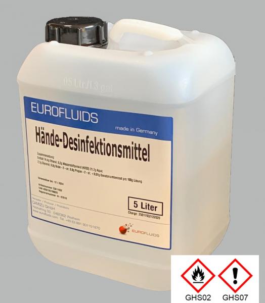 Eurofluids Hände-Desinfektionsmittel | 5-Liter-Kanister