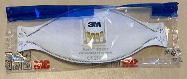 3M Feinstaubmaske Aura 9322+ FFP2 mit Ausatmungsventil