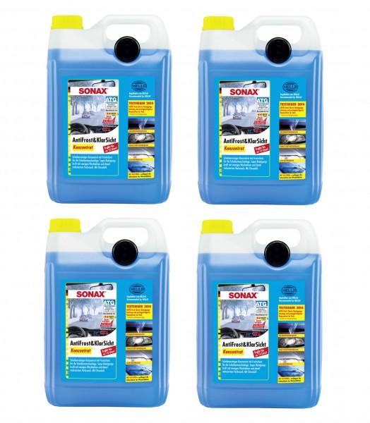 Sonax AntiFrost & KlarSicht Konzentrat   Karton mit 4 x 5-Liter-Kanister