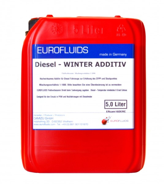 Eurofluids Diesel Fließverbesserer Additiv | 5-Liter-Kanister